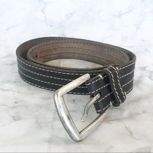 Lucky Brand Brown Leather Belt w/Silver Buckle 36